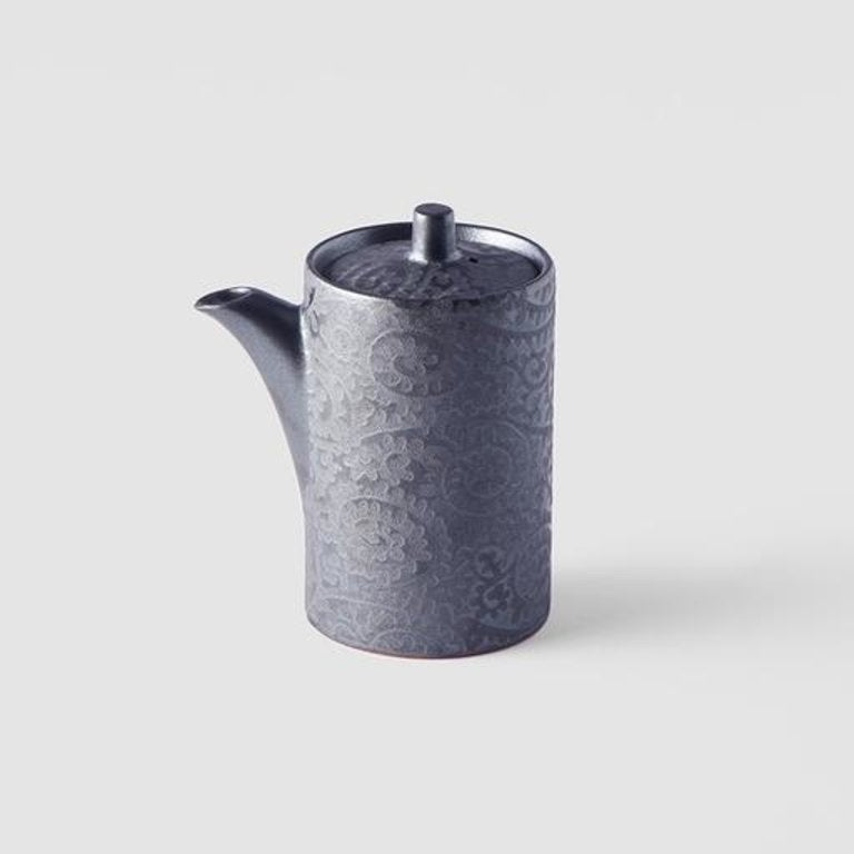 Black Scroll Soy Pot