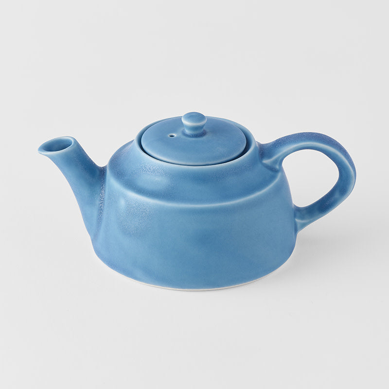 Teapot Low Style in Dry Blue