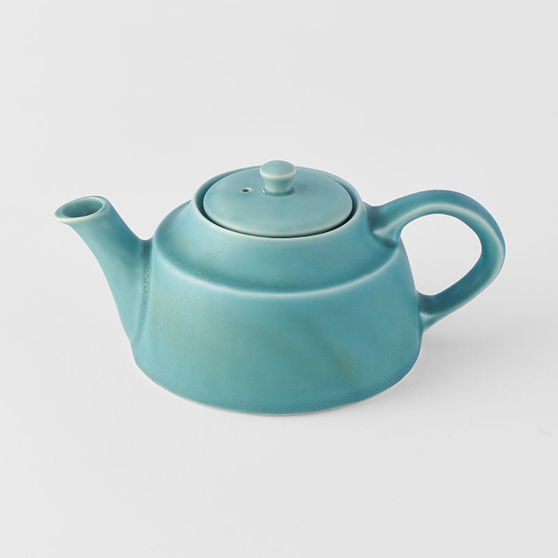Teapot Low Style in Dry Aqua