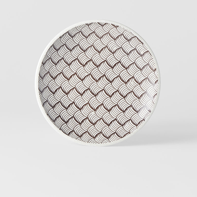 White Weave Side Plate