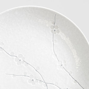 White Blossom Large Dinner Plate