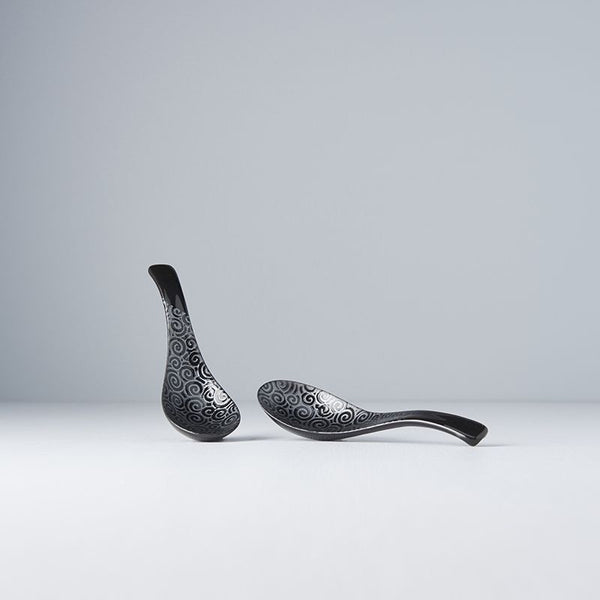 Black Scroll on Black Spoon