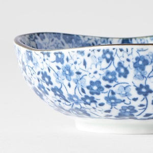 Blue Daisy Small Uneven Bowl