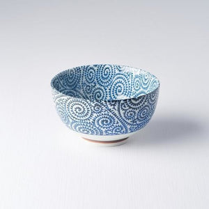 Blue Scroll U Shape Bowl