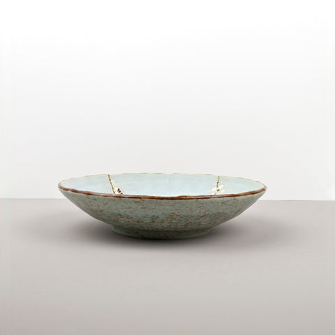 Blue Blossom Large Shallow Bowl