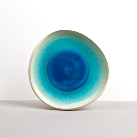 Organic White Aqua Crackle Inner Bowl