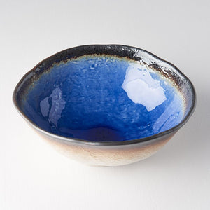 Cobalt Blue Large Uneven Bowl