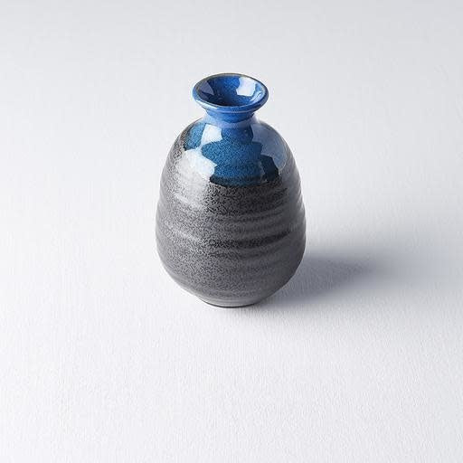 Black with Blue Top Sake Jug