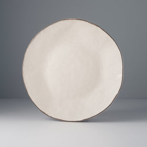 Craft White Flat Plate with Exposed Edge
