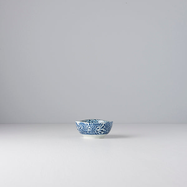 Blue Scroll Oval Sauce Dish