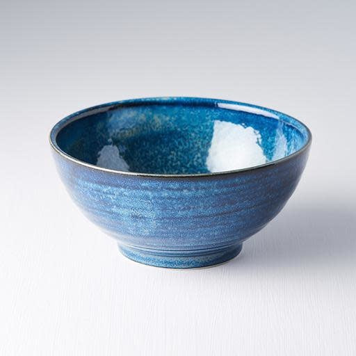 Indigo Blue Medium U Shaped Bowl