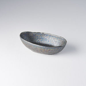 Black Lustre Canoe Bowl