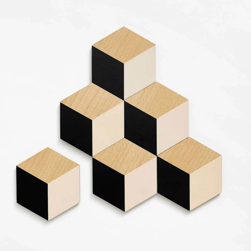 Table Tiles Coasters Black