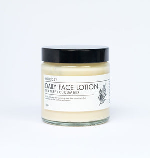Daily Face Lotion Tee Tree & Cucumber - Woodsy Botanics