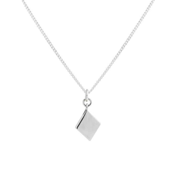 Lindi Kingi Deluxe Diamond Necklace Silver