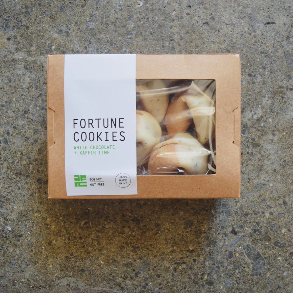 White Chocolate & Kaffir Lime Fortune Cookies Box