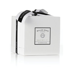 Miller Road Luxury Range Candle Bamboo & White Lily