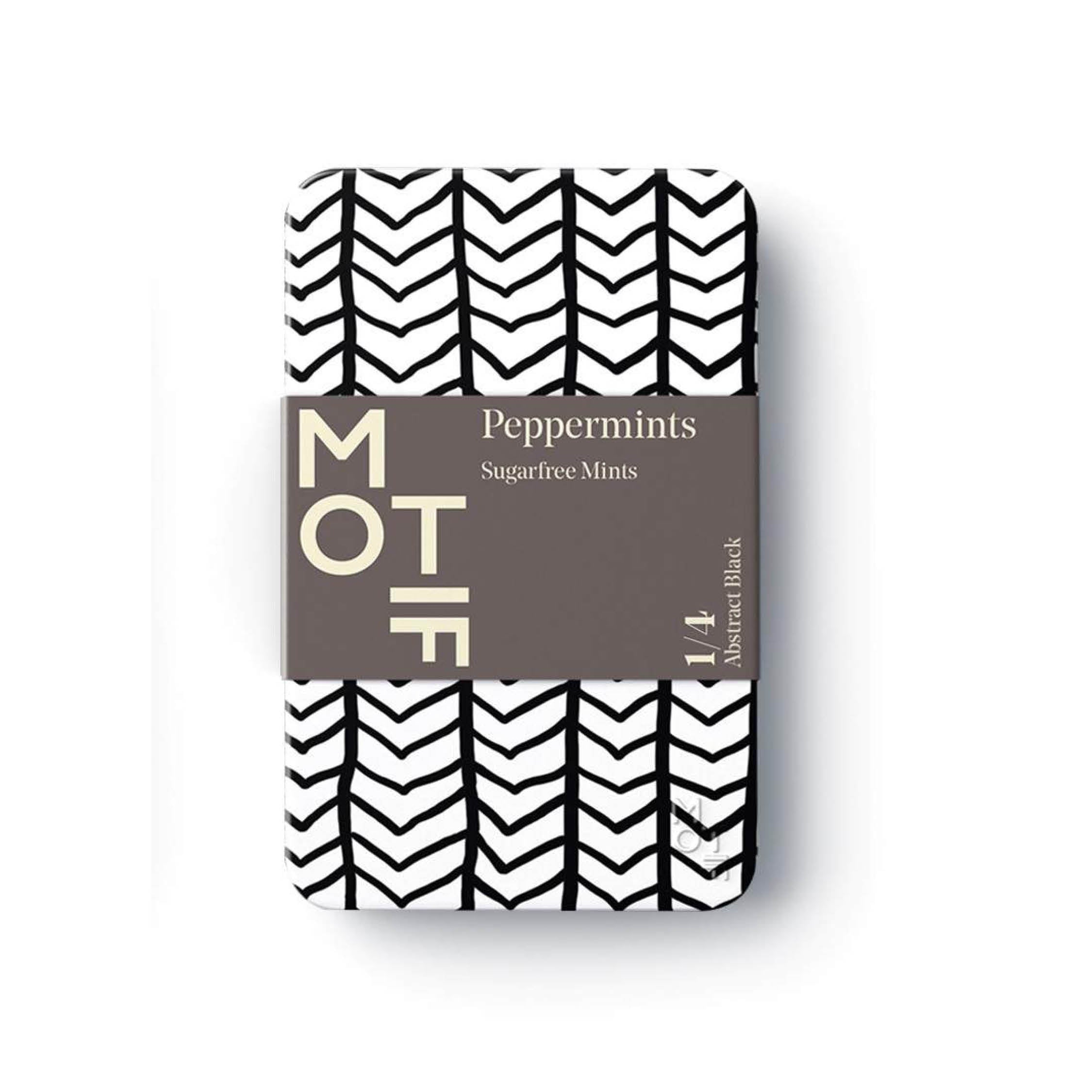 Peppermints - Abstract Black & White Tin