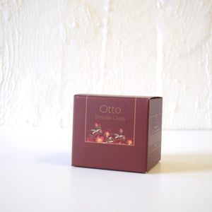 Only Orb OTTO - Roses & Green Leaves Candle In Glass