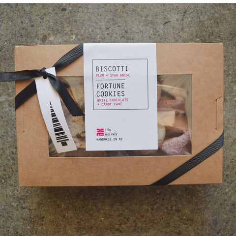 Plum, Star Anise Biscotti & Candy Cane Fortune Cookie Gift Box