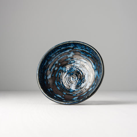 Copper Swirl Small Shallow Bowl