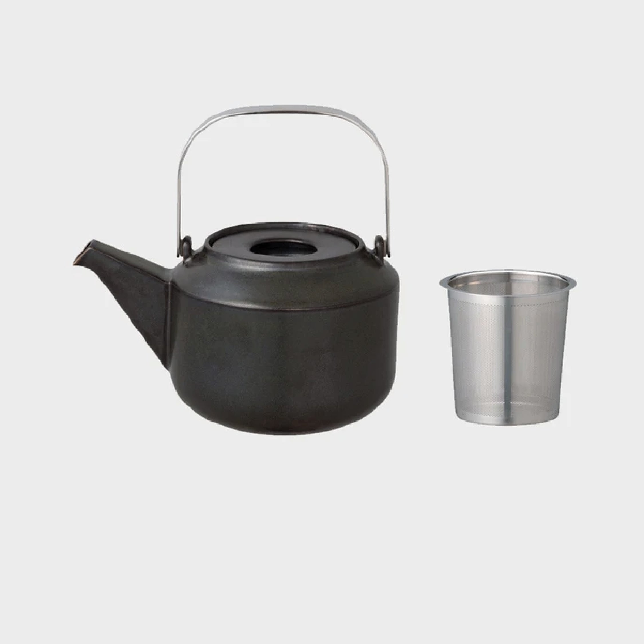 Kinto - Leaves to Tea 600ml Teapot in Black