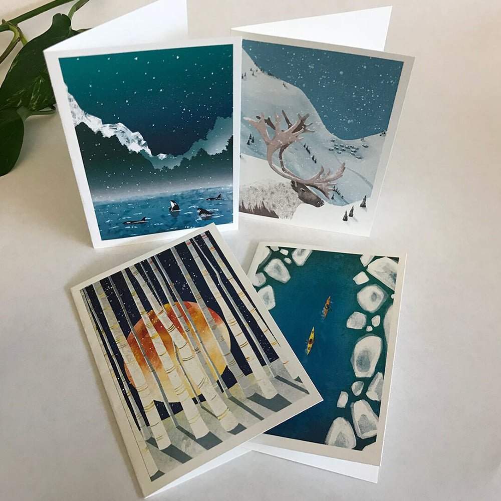 NEW for 2018 Winter greeting cards 12-pack — Art by Crystal Smith