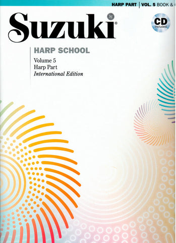 Suzuki Harp School Volume 5 (Book & CD)