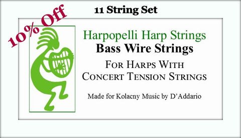 Harpopelli Bass Wire 11 String Set