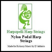 2nd Octave Pedal Nylon Harp String Set