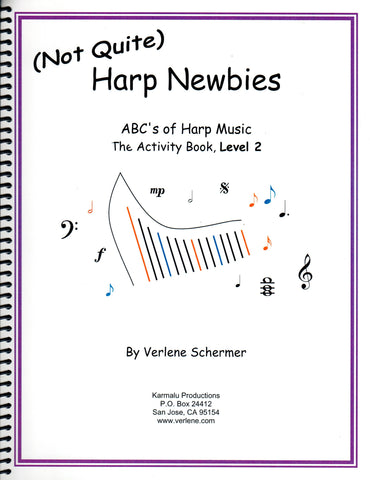 (Not Quite) Harp Newbies, The Activity Book, Level 2