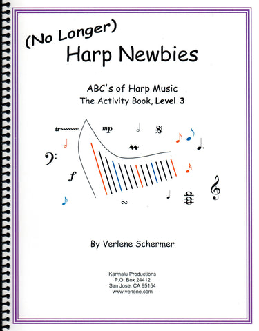 (No Longer) Harp Newbies, The Activity Book, Level 3