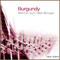 2nd Octave A Burgundy Pedal Gut Harp String