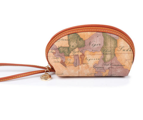 World Map Coin Purse - Antique Map Travel Wristlet