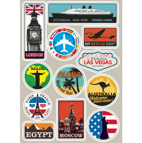 Luggage Stickers - Travel Suitcase Decals