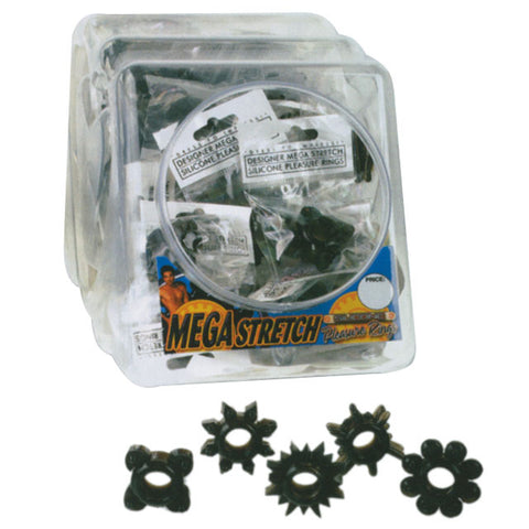 Mega Stretch Pleasure Ring (Black)