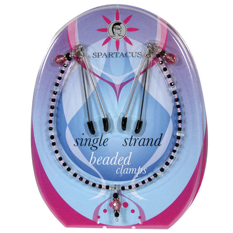 Single Strand Beaded Nip Clamp (Purple)