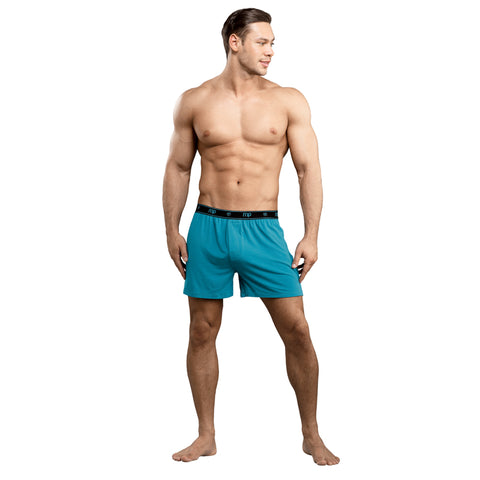 MP Bamboo Boxer Teal Lrg