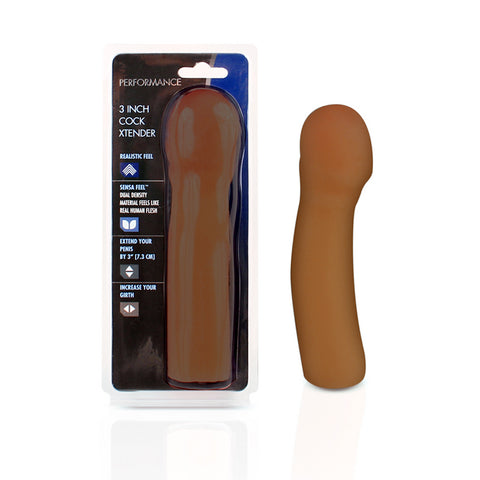 Performance - 3in Cock Xtender - Brown