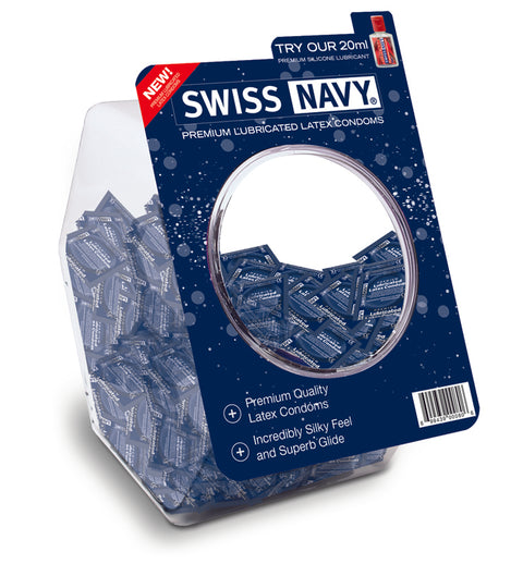 Swiss Navy Latex Con. W/Sili. (100/Bowl)