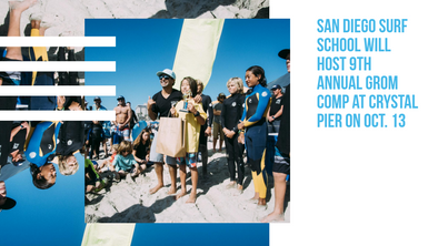 San Diego Surf School Will Host 9th Annual Grom Comp at Crystal Pier on Oct. 13