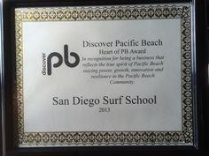 Heart of Pacific Beach Award