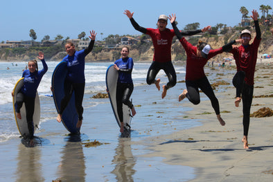 Summer Surfing With Family
