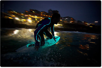 Night Surfing Wetsuits with LED