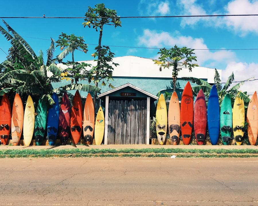 colorful surfboards shortboards
