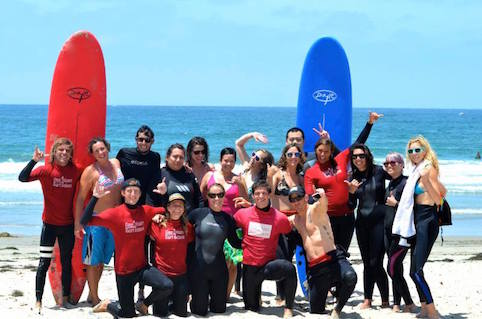 Corporate Surf Lessons San Diego
