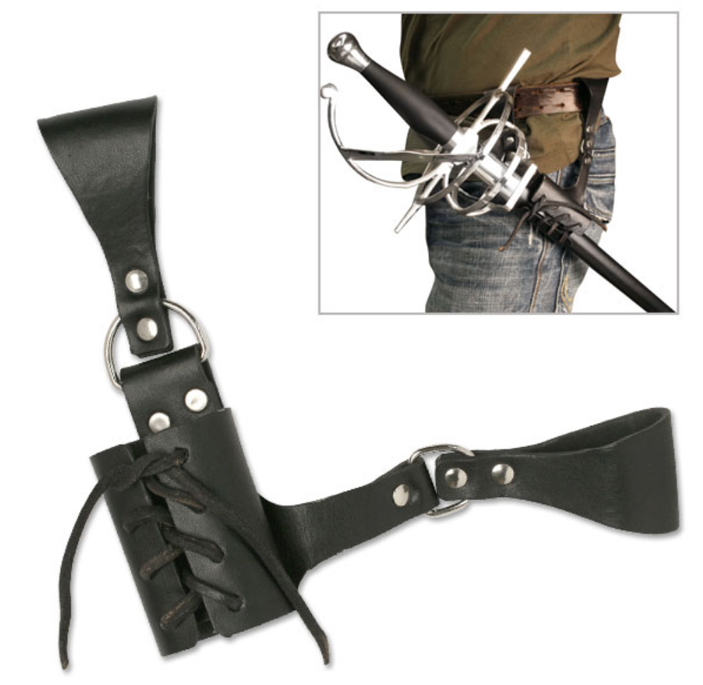 "PK-6182 UNIVERSAL LEATHER SWORD FROG 8"" OVERALL"