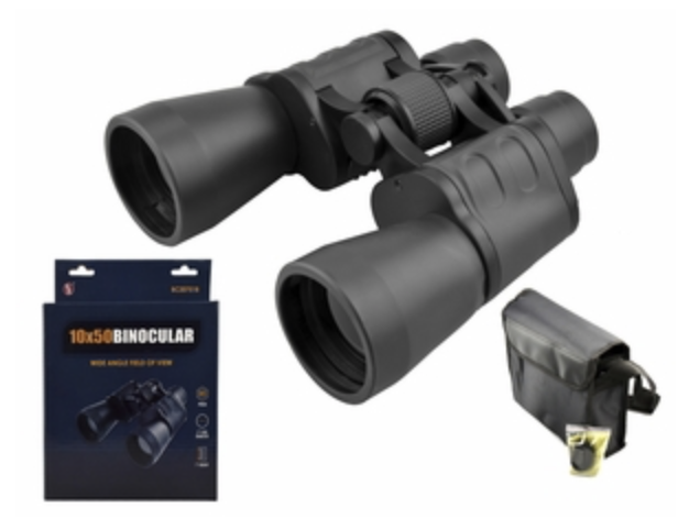 10x50mm Wide Angle Professional Quality Binocular (Black), K9 Prism
