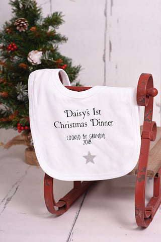 First Christmas Dinner Bib