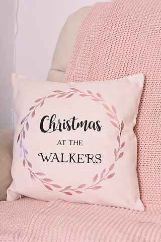 Family Christmas Cushion